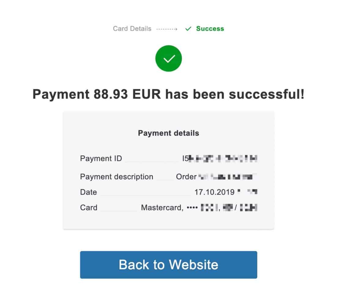 2 payment success