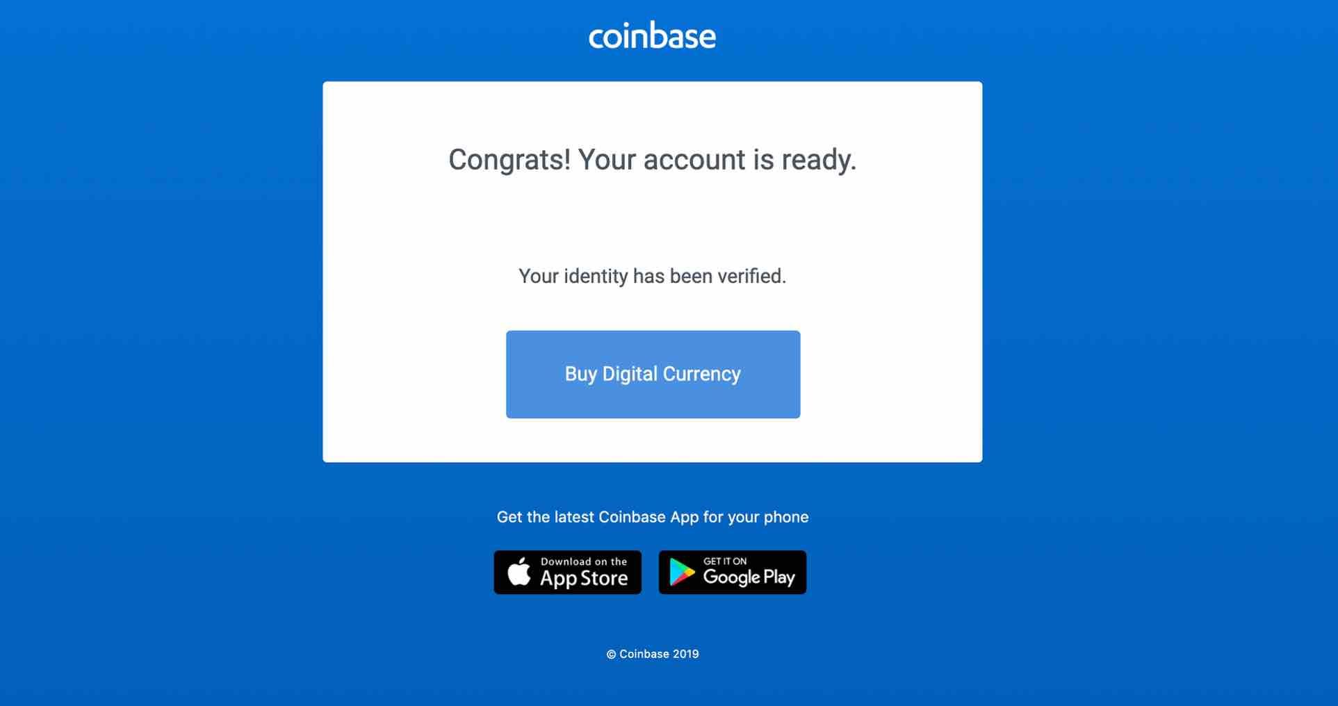 coinbase verified